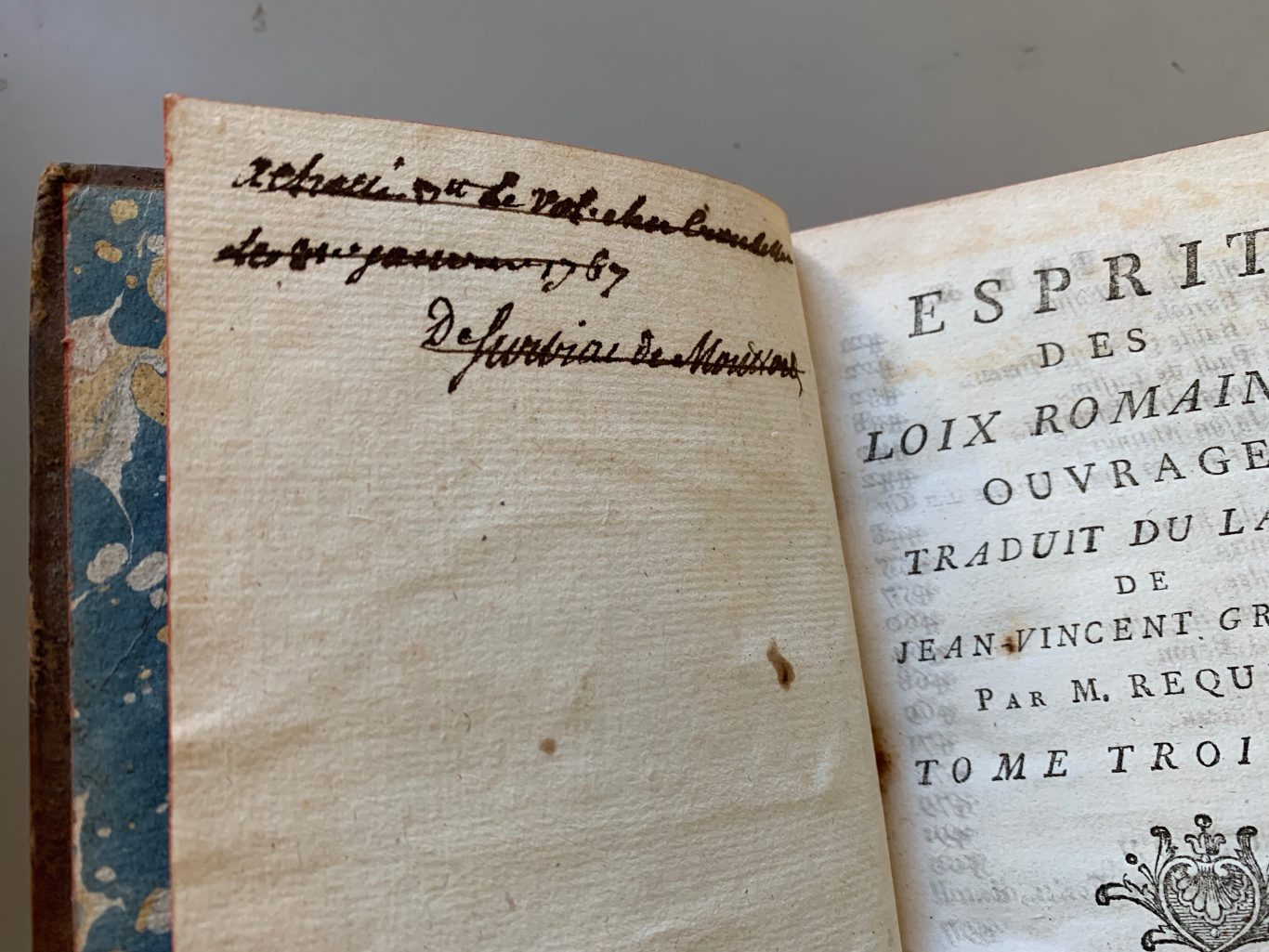 1766 - ESPRIT DES LOIX ROMAINES